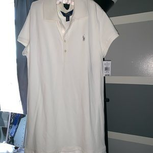 cream polo dress size 12-14 in good condition.
